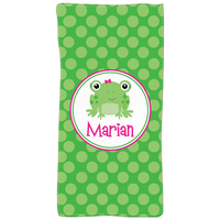Miss Frog Personalized Kids Beach Towel