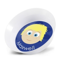 Personalized Boys Melamine Faces Bowl- Jackson Bowl