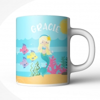 Mermaid Girls Personalized Mug