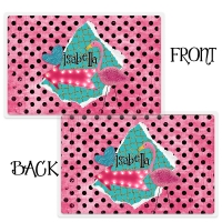 Personalized Kids Placemant - Polka Dot Flamingo