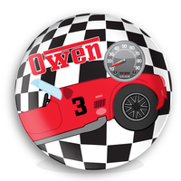Race Car Personalized Microwave Safe Plate