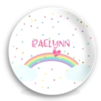 Rainbow Personalized Kids Plate