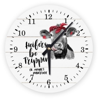 Heifers Be Trippin - OK, maybe I pushed her Decorative Wall Clock