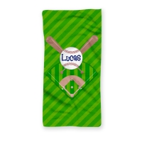 Baseball Diamond Personalized Beach Towel, Kids Beach Towel