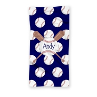 Baseball Personalized Beach Towel
