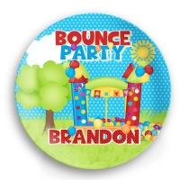 Bounce House Party Personalized Kids Plate