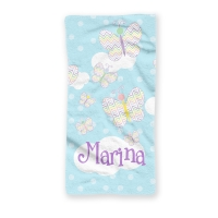 Butterfly Girls Personalized Kids Beach Towel