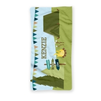 Camping Personalized Beach Towel, Custom Personalized Towels
