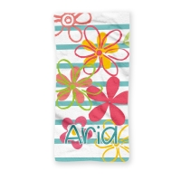 Fresh Flowers Girls Personalized Kids Beach Towel