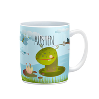Frog Monster Boys Personalized Kids Cup, Mug