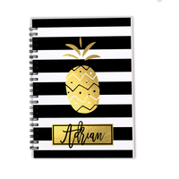 Pineapple Stripes Faux Gold Foil