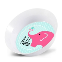 Pink Elephant Cute Personalized Bowl