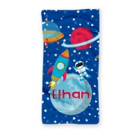 Space Personalized Kids Beach Towel