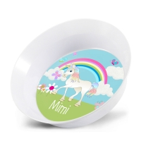 Unicorn Girls Personalized Kids Bowl