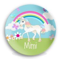 Unicorn Personalized Kids Plate