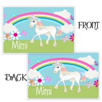 Unicorn Girls Personalized Kids Placemat