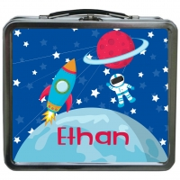 Spaceship Astronaut Personalized Boys Lunchbox
