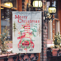 Personalized Christmas Red Car Flag