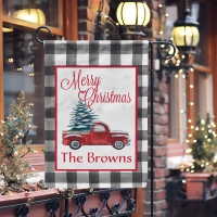 Personalized Christmas Truck Flag