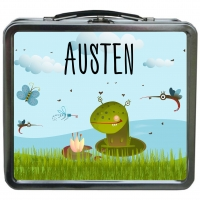 Frog Monster Personalized Boys Lunchbox