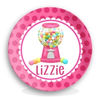 Girls Gumball Machine Personalized Plate