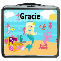 Mermaid Girls Personalized Girls Lunchbox