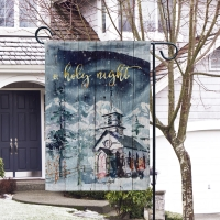 O, Holy Night Christmas Garden Flag