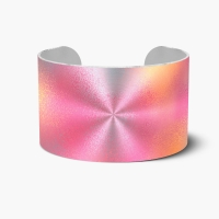 Pink & Yellow Point Cuff Bracelet