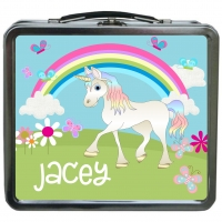 Unicorn Personalized Girls Lunchbox