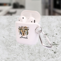 Personalized Wild Heart Apple AirPods Case