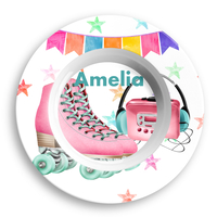 Roller Skating Personalized Microwave Safe Bowl