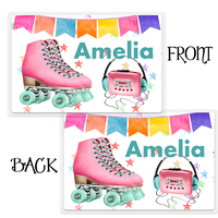 Roller Skating Personalized Kids Placemat