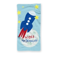 To The Moon Personalized Kids Beach Towel