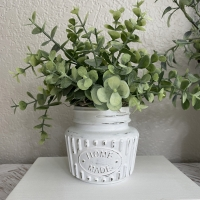 Distressed Mini Eucalyptus Jar Tiered Tray Decor