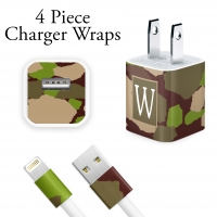 Green Camo Personalized Charger Wrap Decal