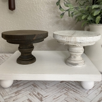 Mini Pedestal Riser Tiered Tray Decor