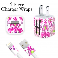 Pink Damask Personalized Charger Wrap
