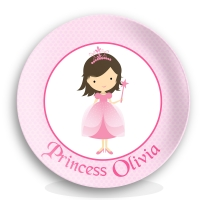 Pretty Princess Girls Personalized Plate