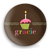 Sugary Sweet Girls Birthday Personalized Plate