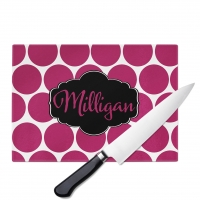 Dots Monogrammed Cutting Board