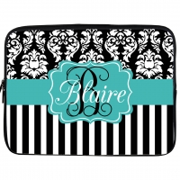Damask Monogrammed iPad Sleeve