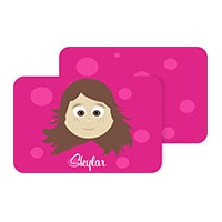 Personalized Girls Placemat - Skylar Pm3 Personalized Kids Placemat