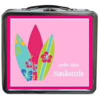 Surfer Chick Girls Personalized Lunch Box