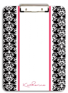 Black Damask Clipboard