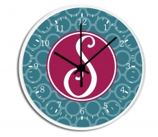 Circle Chain Personalized Decorative Wall Clock - Boys or Girls Personalized Clock