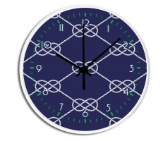 Nautical Knot Personalized Decorative Wall Clock - Boys or Girls Personalized Clock