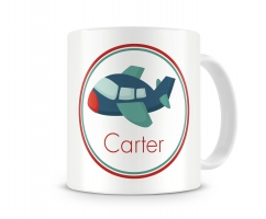 Airplane Personalized Kids Mug