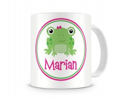 Miss Frog Personalized Kids Melamine Mug, Airplane Personalized Kids Cup