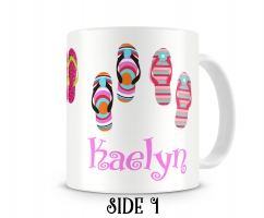 Flips Flops Personalized Coffee Mug Right Hand Side