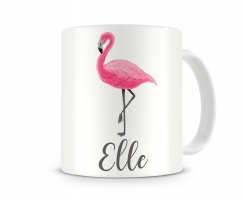 Pink Flamingo Personalized Coffee Mug Right Hand Side